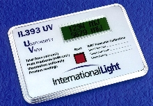 UV Exposure Meter displays dosage and uniformity.
