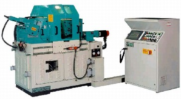 Centerless Grinder features Fanuc Powermate I D control.