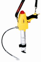 Grease Gun dispenses tube of grease in less than 1 min.
