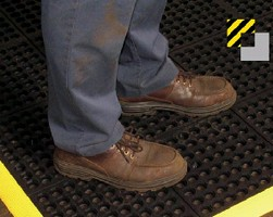 Rubber Compounds provide industrial safety matting.