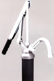 Hand Pump is for use with 15 to 55 gallon drums.
