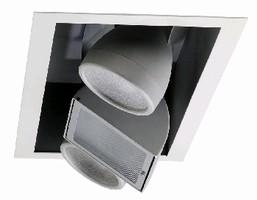 Adjustable Light Fixtures feature semi-recessed design.