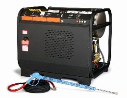 Hot Water Pressure Washer delivers up to 5,000 psi at 5 gpm.