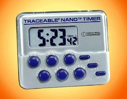 NIST Traceable Timer provides 0.01% accuracy.
