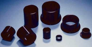 Plastic Plain Bearings withstand loads up to 14,500 psi.