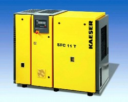 Rotary Screw Compressor features variable speed drive.