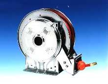 Hose Reel withstands harsh environments.