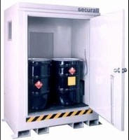Storage Buildings house flammable or combustible liquids.