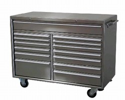 Rolling Storage Cabinet provides 22,820 cu-in. capacity.
