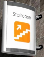 Illuminated Wall Sign offers application flexibility.