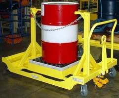 Drum Cart promotes safe towing without tipping.