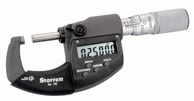 Electronic Micrometers resist contaminants with IP67 protection.