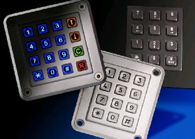 Keypad withstands harsh outdoor environments.