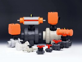 Ball Valve can be actuated pneumatically or electrically.