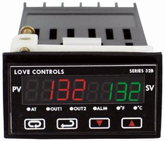 Temperature/Process Controller offers configurable outputs.