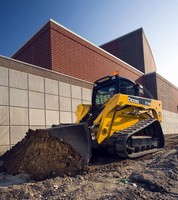 Attachments transform skid steers/track loaders into bulldozer..