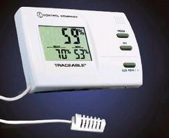 Temperature/RH Monitor provides remote operation.