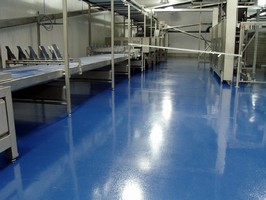 Concrete Flooring Resurfacer withstands heat to 210° F.