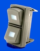 Rocker Switch includes LED backlighting.