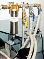 Filters prevent plugging of coolant delivery lines.