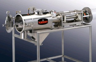 Centrifugal Screener features cantilevered shaft.