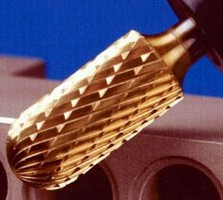 Tungsten Carbide Burs feature anti-friction coatings.