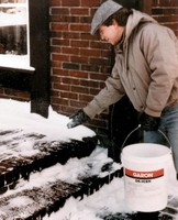 Heat Generating Pellets melt ice and snow upon contact.