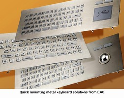 Anytime, Anyplace, Anywhere Quick Mounting Metal Keyboard Solutions from EAO