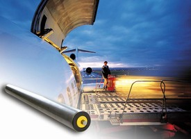 Conveyor Roller suits baggage handling systems.