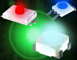 Surface-Mount LEDs are offered in 3 package options.