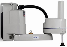 Inverted-Mount SCARA Robot performs high-speed packaging.