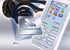 CSR Brings Bluetooth v2.0 with EDR to austriamicrosystems' Mobile Entertainment Platform for MP3 Players