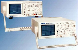 Dual Trace Analog Scopes incorporate CRT displays.