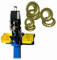 Portable Press attaches grommets to variety of materials.