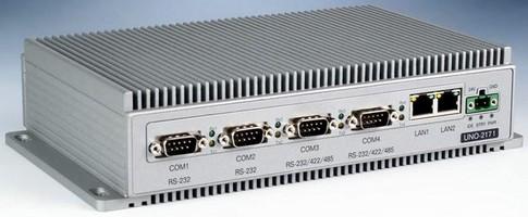 DIN-Rail PC is powered by Intel Pentium M processor.
