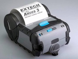 Portable Printer tolerates harsh outdoor environments.