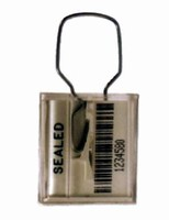 Bar Coded Seal features tamper-resistant hasp.