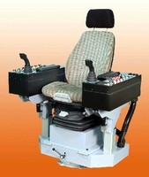 Operator Armchair offers range of motorized adjustments.