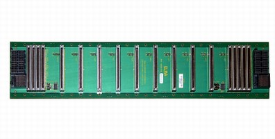 Backplane complies with MicroTCA.0 specification.