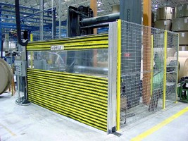 Barrier Door System protects personnel from machinery.