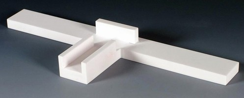 Alumina Ceramic withstands temperatures to 3,000°F.