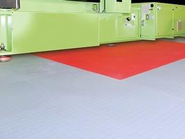 Industrial Flooring uses hidden interlock system.