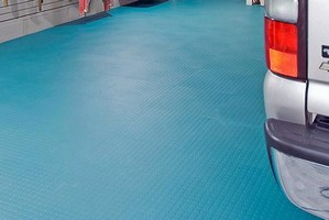 Garage Flooring features modular, interlocking design.