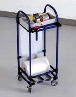 Utility Cart keeps packing tools and supplies at hand.