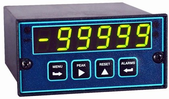 Panel Meter displays rates or totals up to 6-digits.