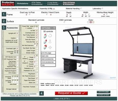 Build Your Own Ergonomic Workstations: 3D Work Bench Configurator from Production Basics