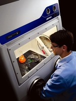 Glove Boxes maintain leak-tight controlled environment.