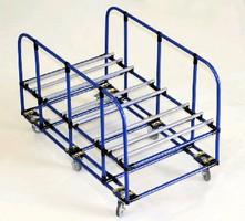 Cradle Push Cart maneuvers long stock.