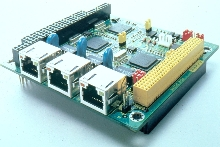 3-Port Ethernet Module drives network applications.