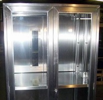 Medical Pass-Through Cabinet maintains sterile environment.